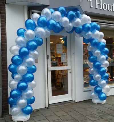 Ballondecoratie ballonbogen ballonpilaren welkomstboog huren for Ballonnen decoratie zelf maken